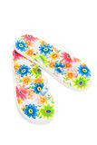 Flip-flops with flowers Royalty Free Stock Image