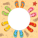 Flip Flops Holiday Photo Frame Royalty Free Stock Photo