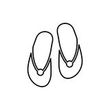 Flip flops icon. Beach and vacation icon vector illustration Royalty Free Stock Images