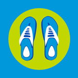 Flip Flops Icon Summer Slippers Foot Wear Royalty Free Stock Photo