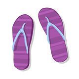 Flip Flops Icon Summer Slippers fotkläder stock illustrationer