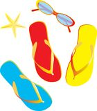 Flip flops isolated Royalty Free Stock Photography