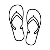 flip flops isolated icon design Stock Photography