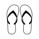 Flip flops isolated icon. Vector illustration design Stock Photo
