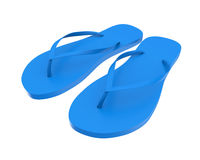 Flip Flops Isolated. On white background. 3D render Stock Photos