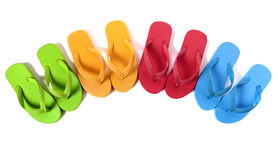 Flip flops isolated on white Royalty Free Stock Images
