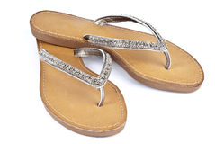 Flip Flops with Leather Soles Stock Photography