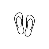 Flip flops line icon, travel tourism,. Summer vacations, a linear pattern on a white background, eps 10 Royalty Free Stock Photography