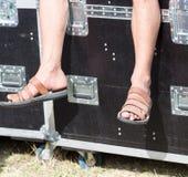 Flip flops men on foot Royalty Free Stock Photo