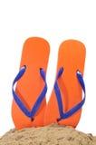 Flip-flops na areia fotos de stock royalty free