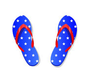 Flip-flops in national colors Stock Image