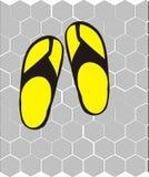 Flip-flops no assoalho Foto de Stock
