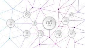 Flip-flops o ?cone Do grupo da Web ilustração royalty free