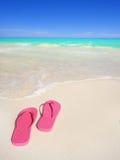 Flip Flops On Tropical Beach Stock Image
