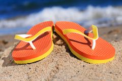 Flip-flops. Royalty Free Stock Images