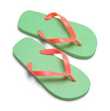 Flip Flops. Pair of Flip Flop Sandles Isolated on White Background stock photos