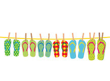 Flip-flops on a rope Stock Photos