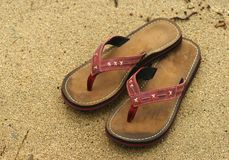 Flip-flops. Sand Stock Photos