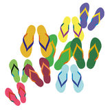 Flip flops, sandals, summer sandals Royalty Free Stock Photos