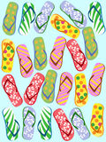 Flip flops seamless Royalty Free Stock Photography