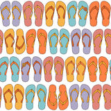 Flip-flops seamless background Royalty Free Stock Photos