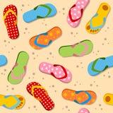 Flip Flops Seamless Pattern Fotos de archivo libres de regalías