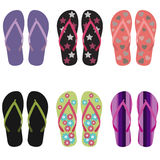 Flip flops set Stock Photography