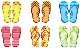 Flip flops set Stock Images