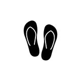 Flip flops solid icon, travel tourism Royalty Free Stock Image