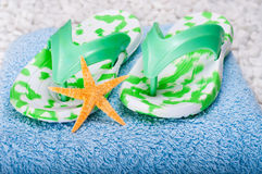 Flip-flops and Starfish Stock Image
