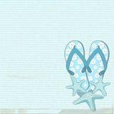 Flip flops and starfish Stock Photos