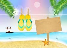 Flip flops in summer Royalty Free Stock Photos