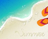 Flip flops Summer time holiday background Royalty Free Stock Photo