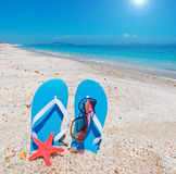 Flip-flops and sun Royalty Free Stock Photo