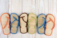 Flip Flops unido mal Fotografía de archivo libre de regalías