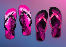 Flip Flops Vector stock illustrationer