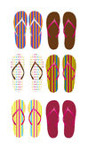 Flip flops vector Royalty Free Stock Images
