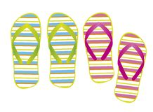 Flip flops vector Stock Photos