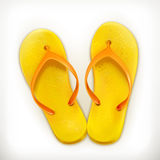 Flip flops, vector icons Stock Images