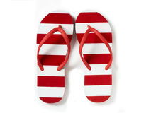 Flip flops on a white background Stock Images