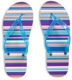 Flip Flops on white background Royalty Free Stock Image