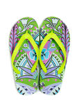 Flip flops on white background Royalty Free Stock Photo