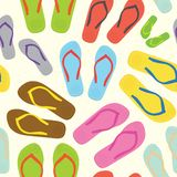 Flip flops white pattern Stock Images