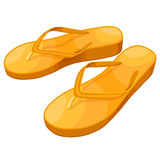 Flip flops. Yellow flip flops isolated on white background Royalty Free Stock Image