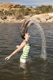 Flip hair water Royalty Free Stock Photos