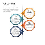 Flip Left Right Infographic Royaltyfria Bilder