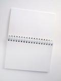 Flip note book open 2 Stock Images