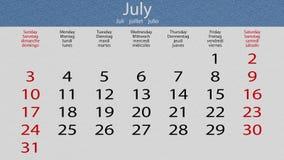 Flip pasteboard calendar stock video