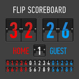 Flip Scoreboard vektor illustrationer