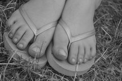 Flip to my Flop. Dramatic Shoe wear Royalty Free Stock Image